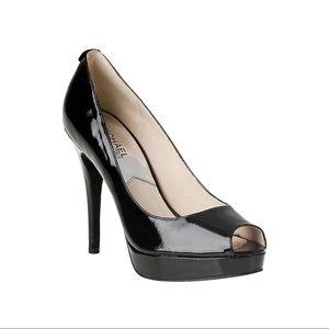 Michael Kors York Patent Leather Peep Toe Platform